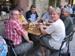 Jahresausflug 2004 Mittagessen im Hopfenschlingel in Rastatt