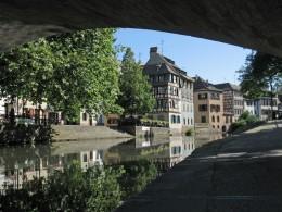 Strassburg Blick auf die Ill