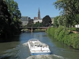 Strassburg Blick auf die Ill und Muenster