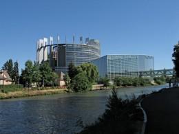 Strassburg Europaparlament Westseite