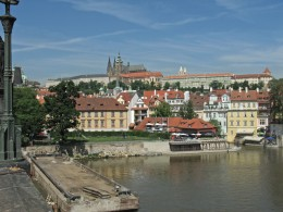 Jahresausflug 2005  Prag  Blick auf den Hratschin