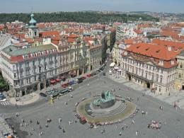 Jahresausflug 2005  Prag  Blick vom Altstaedter Rathausturm