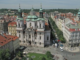 Jahresausflug 2005  Prag  Blick auf die Skt. Niklaskirche