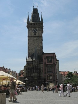 Jahresausflug 2005  Prag  Altstaedter Rathausturm