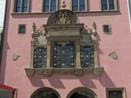 Jahresausflug 2005  Prag  Fenster vom Senatsraum