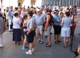 Jahresausflug 2005  Prag  Besichtigung des Hratschin und Skt. Veit Doms
