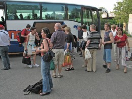 Jahresausflug 2005  Ankunft in Offenburg