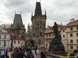 DKG-Jahresausflug Prag 2014 Prager Impressionen Kleinseitner Brückentürme bei der Karlsbrücke