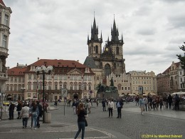 DKG-Jahresausflug Prag 2014 Prager Impressionen Altstädter Ring mit Teynkirche